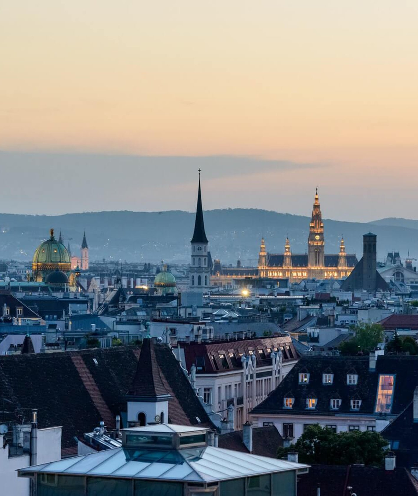 panorama stolicy Austrii