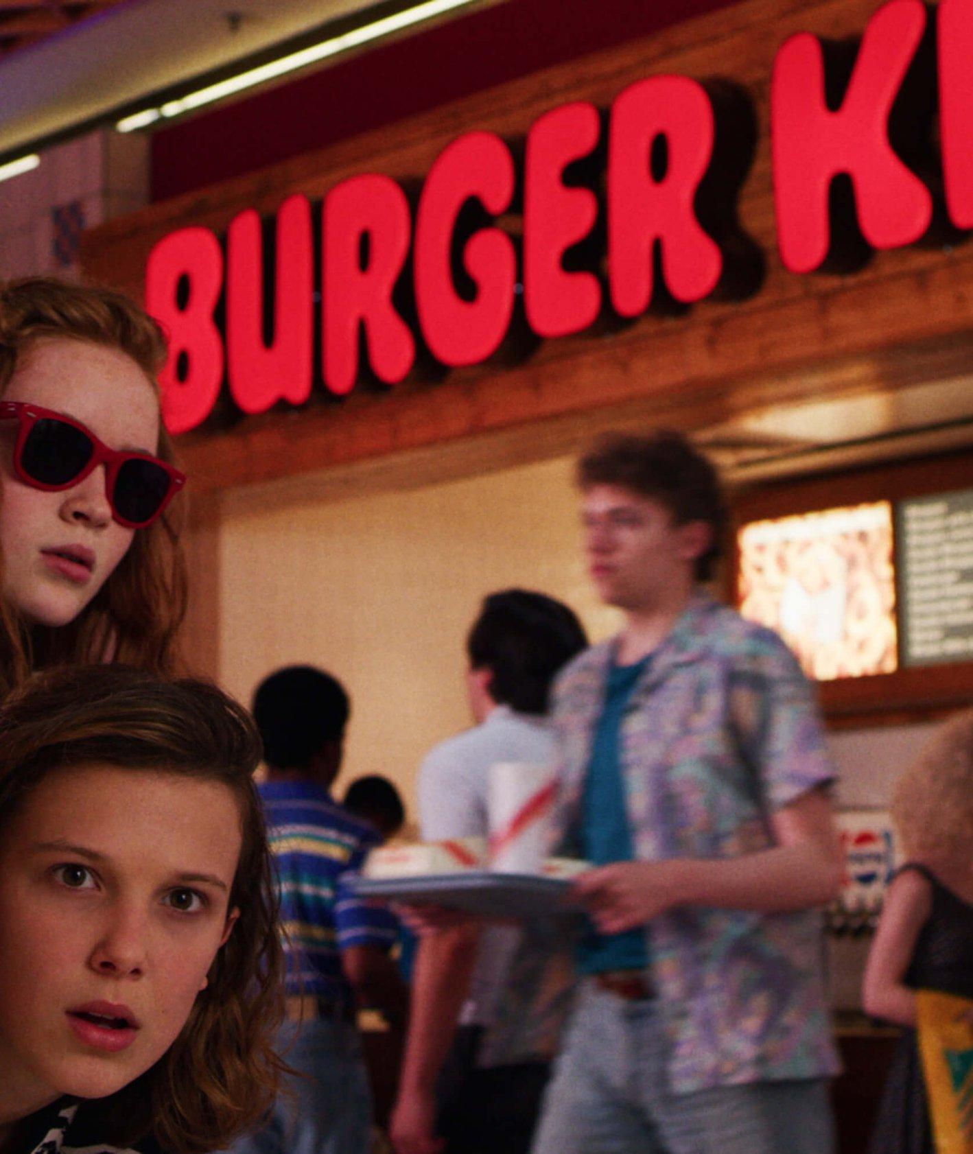 Kadr z trzeciego sezonu serialu Stranger Things
