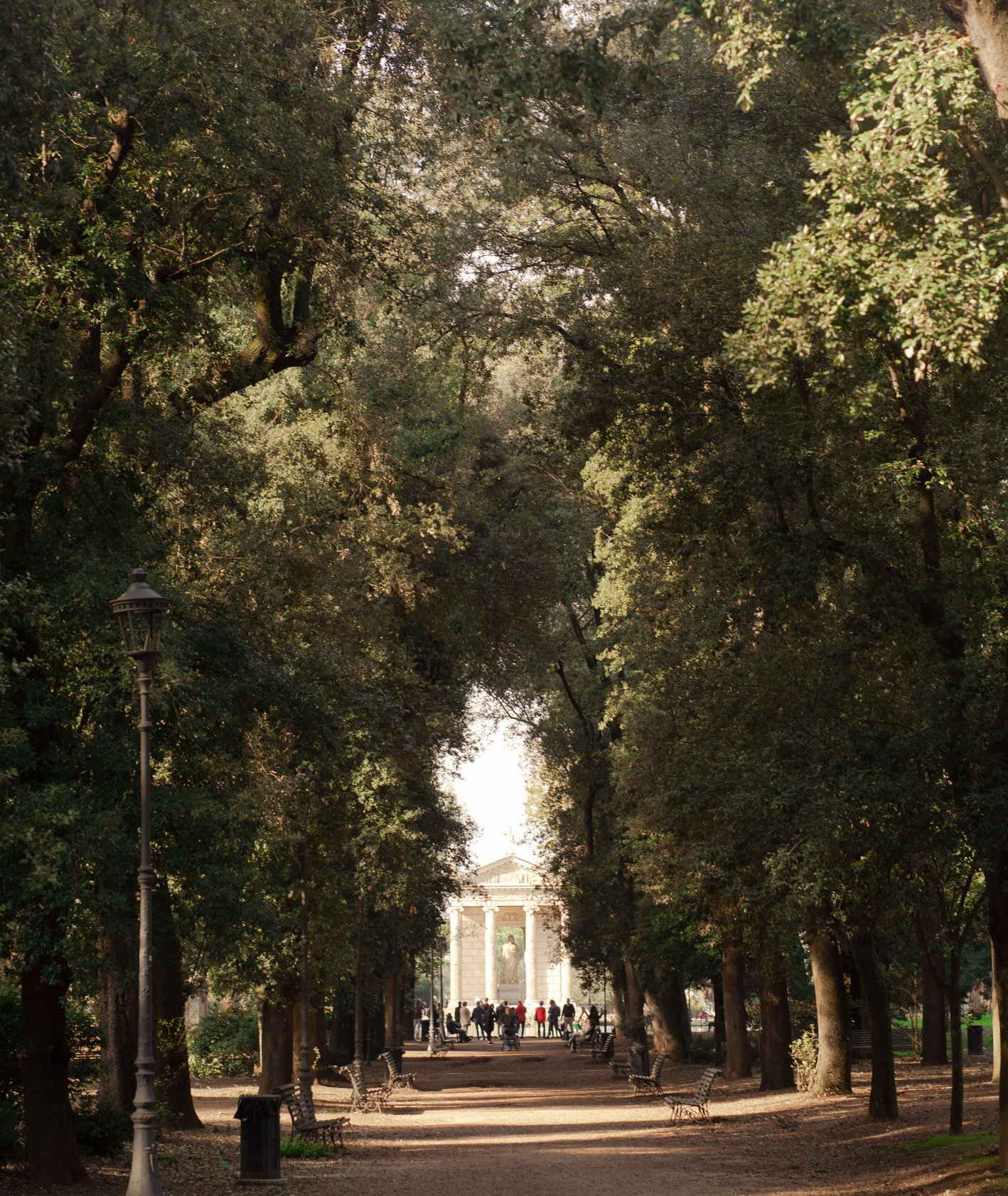 najpiękniejsze parki rzymu - Park przy Villa Borghese