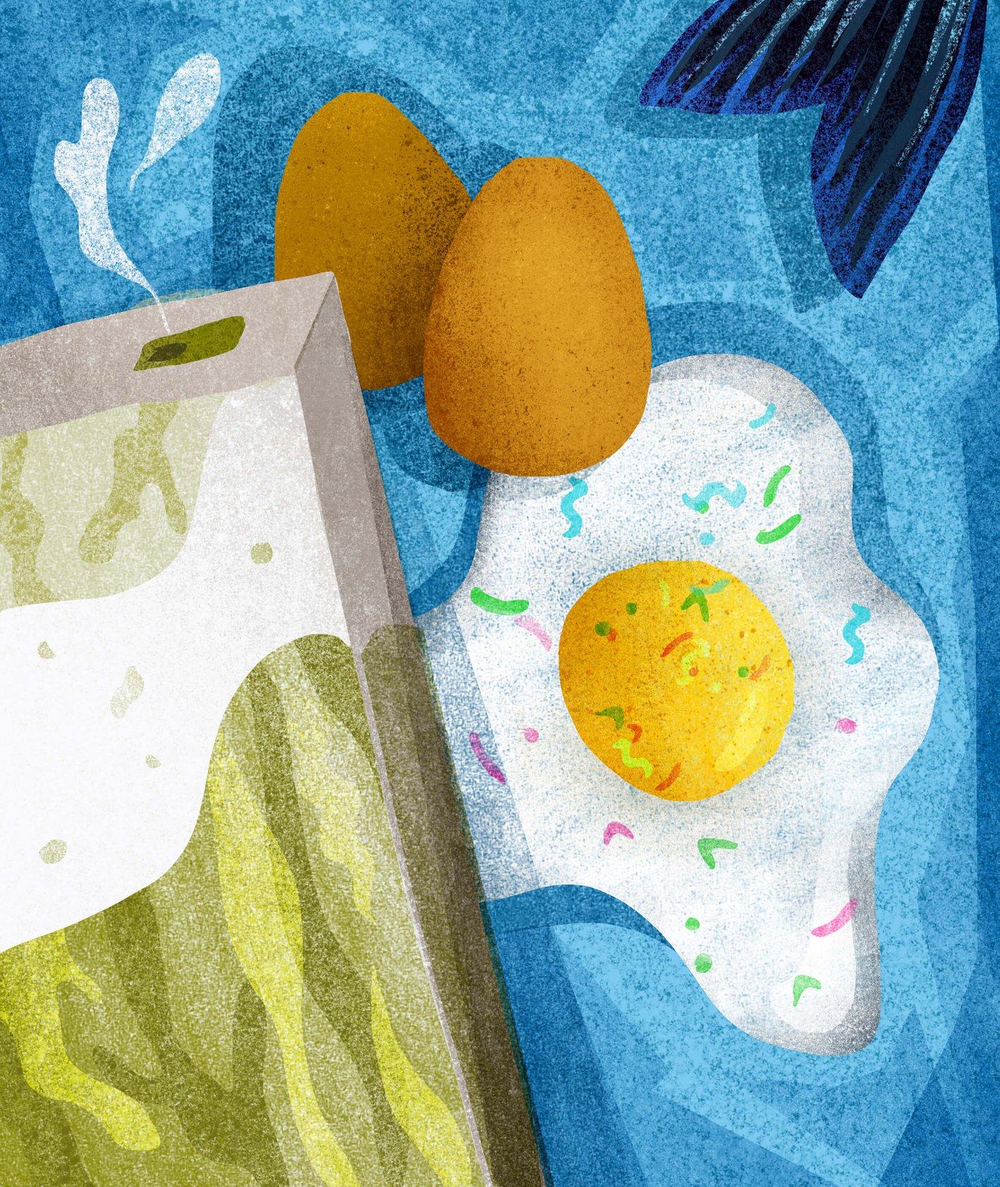Jajka i mleko (ilu. Ula Mierzwa)